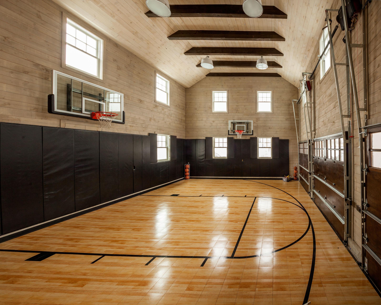 New Canaan Indoor Basketball Court Garrison Hullinger Interior Design